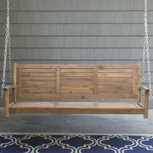 Acacia wood Porch Swing