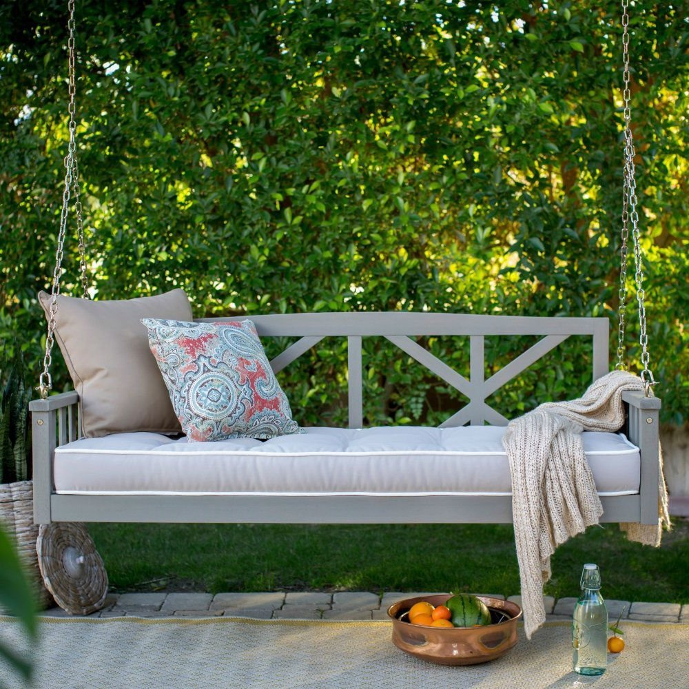 excellent swing outdoor round bed australia porch