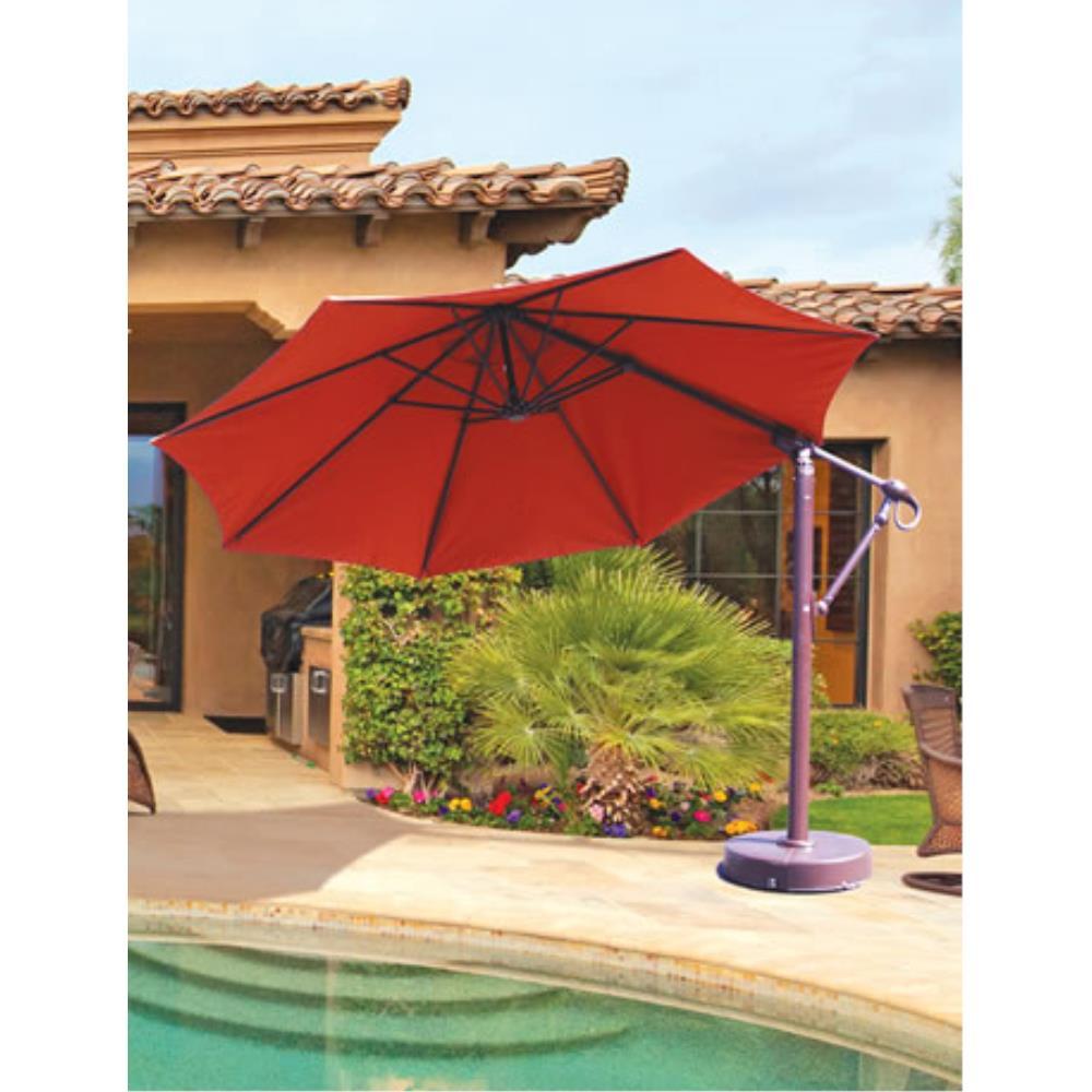 11u2032 Round Easy Lift And Tilt Suncrylic Cantilever Umbrella
