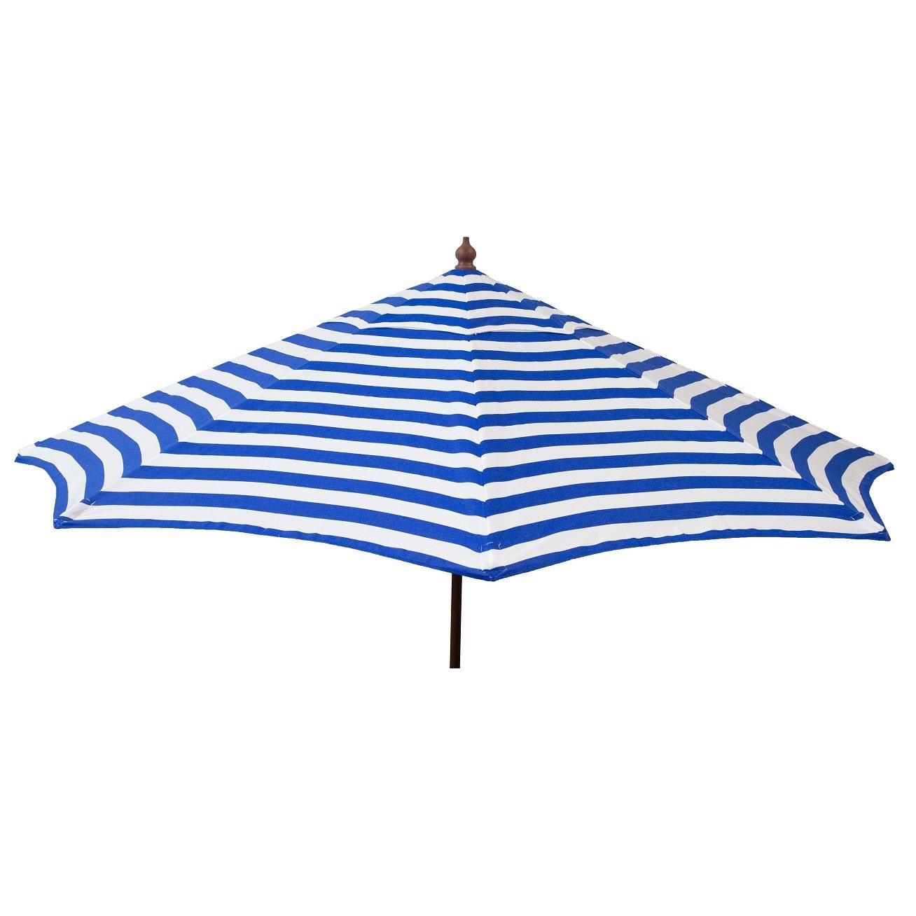 Euro 9ft Umbrella Blue And White Stripe U2013 Patio Pole