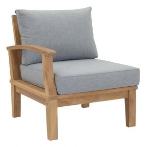 Teak Armchair Left Facing