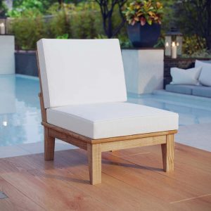 Teak Armless Chair