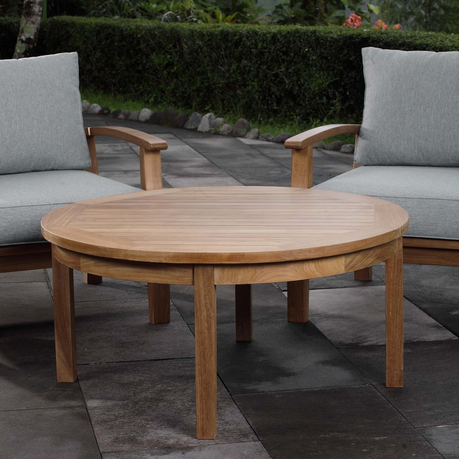 - Outdoor Patio Teak Round Coffee Table EEI-1153 - Patio Furniture Co