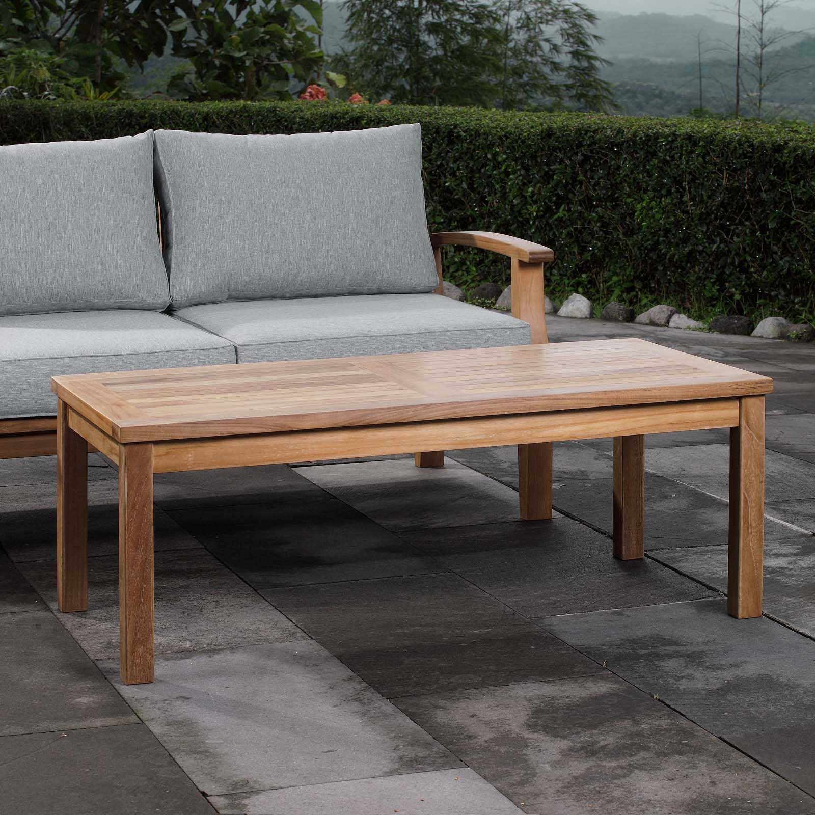 - Outdoor Patio Teak Rectangle Coffee Table EEI-1154 - Patio