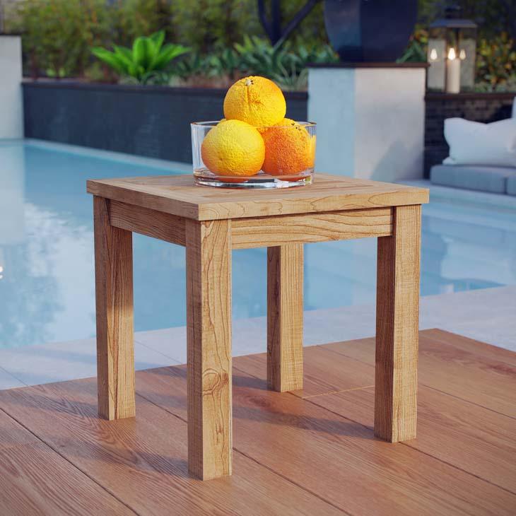 Teak Outdoor Side Table