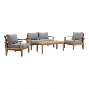 Teak Patio Furniture in Gray