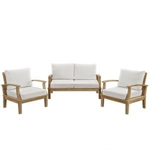 Teak furniture set in white