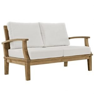 Teak furniture loveseat included in set
