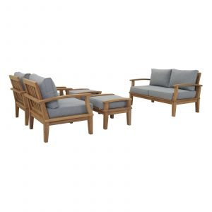 Teak Furniture Set in Gray