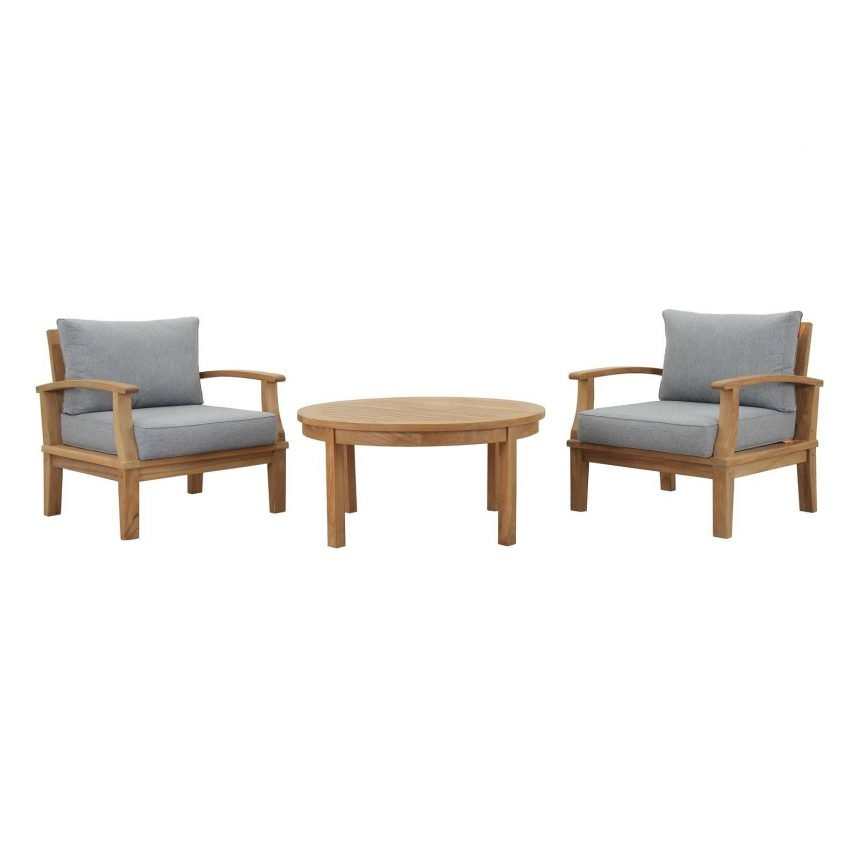 3 piece Teak Furniture Set in Gray