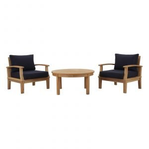 3 piece Teak Set in Navy Blue