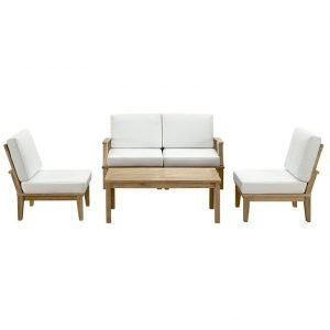5 PIECE OUTDOOR PATIO TEAK SET