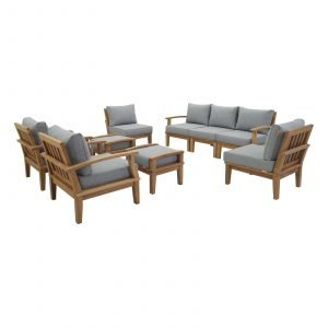 Teak Patio Set in Gray