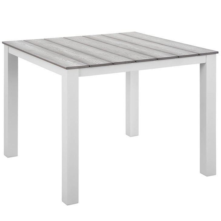 aluminum dining table, metal dining table, dining table, outdoor dining table