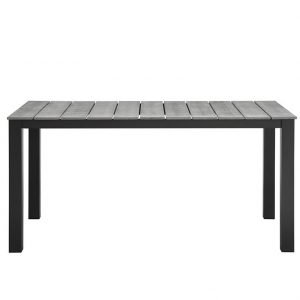 metal dining table, patio dining table, aluminum patio table, aluminum patio dining table, outdoor patio dining aluminum table