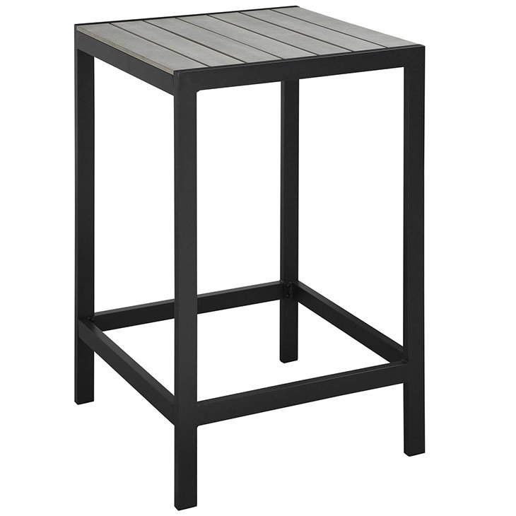 outdoor patio bar table in brown gray