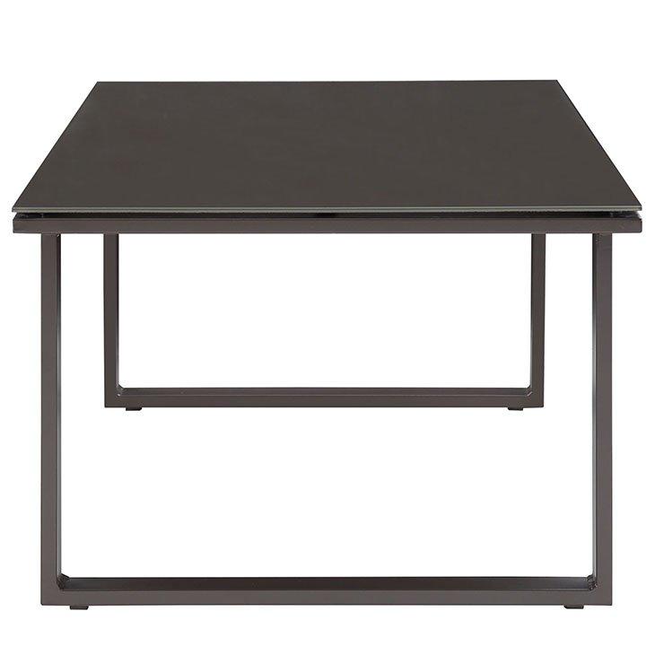 Brown Aluminum Patio Coffee Table