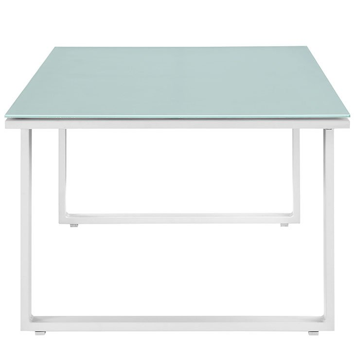 White Aluminum Patio Coffee Table