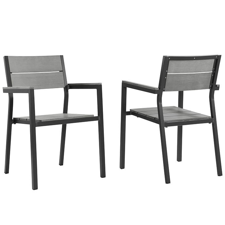 2 piece dining chair set, dining chairs, metal dining chairs, aluminum dining chairs