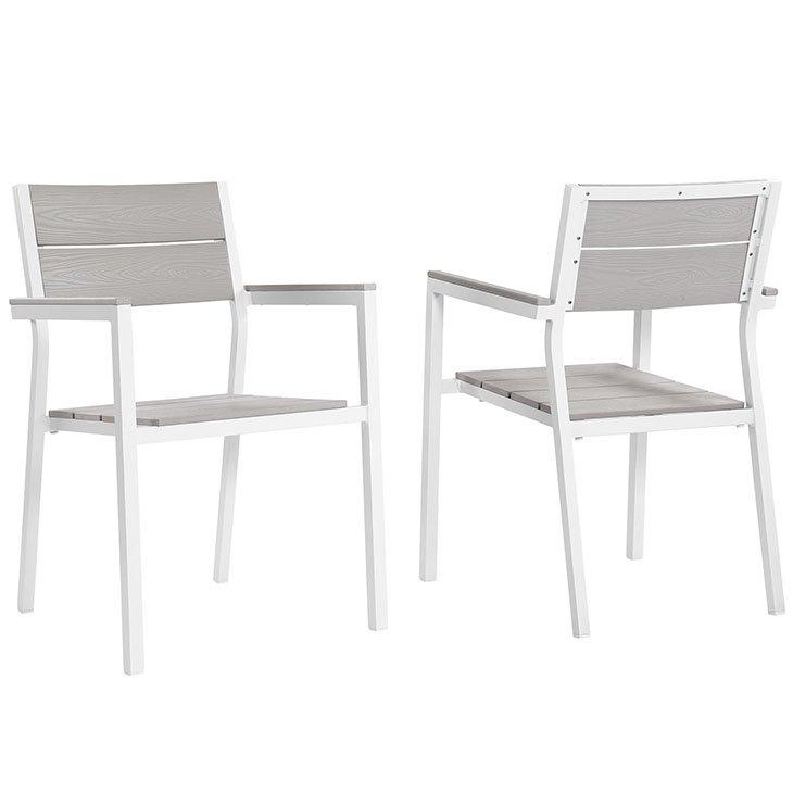 2 piece metal dining chair set