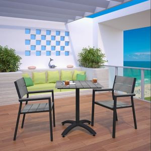 3 piece patio dining set brown, modern patio dining set