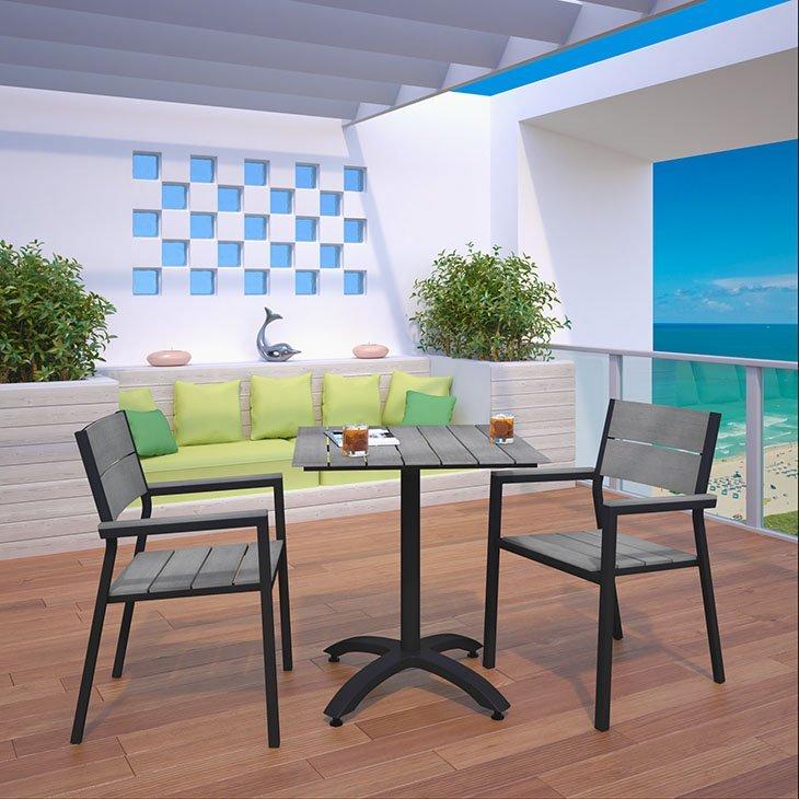 3 piece patio dining set brown, modern patio dining set