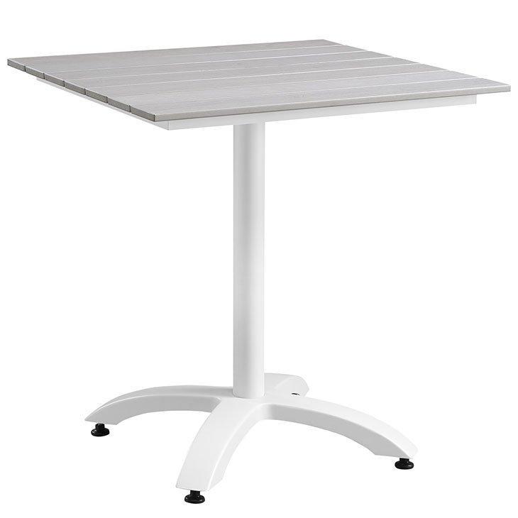 5 piece aluminum patio dining set table white