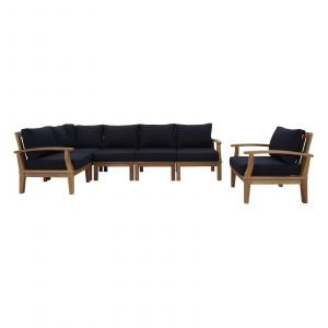 Teak Patio Furniture Set in Navy