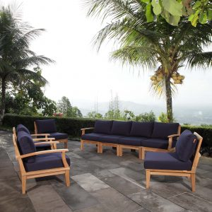 Teak Patio Furniture Set in Navy