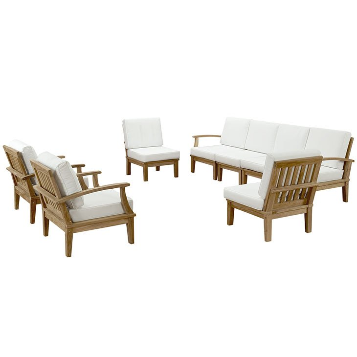 Modern Teak Patio Furniture Set Outdoor Sofa Sectional