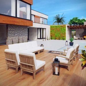Outdoor Teak Patio Sectional Set, outdoor set, teak set, teak patio set