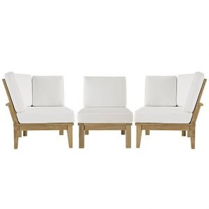3 Piece Euro Patio Teak Set, patio teak set, outdoor chairs, outdoor chair, outdoor sofa, outdoor sectional set, outdoor teak set