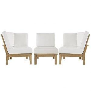 3 Piece Euro Patio Teak Set, patio teak set, outdoor chairs, outdoor chair, outdoor sofa, outdoor sectional set, outdoor teak set