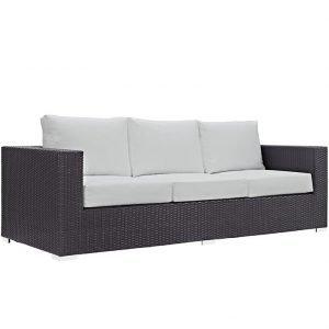 Outdoor Patio Sofa in Espresso White EEI-1844