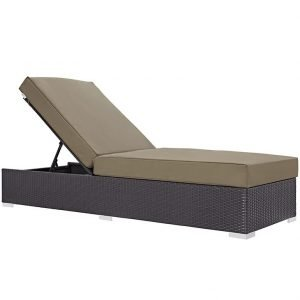 Outdoor Patio Chaise Lounge in Espresso Mocha EEI-1846