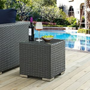 Outdoor Patio Side Table Chocolate EEI-1853