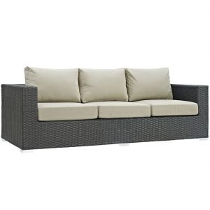 Outdoor Patio Sunbrella® Sofa with Canvas Antique Beige EEI-1860
