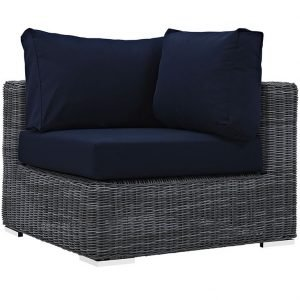 Outdoor Patio Sunbrella® Corner in Canvas Navy EEI-1870