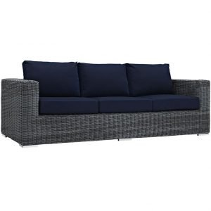 Outdoor Patio Sunbrella® Sofa in Canvas Navy EEI-1874