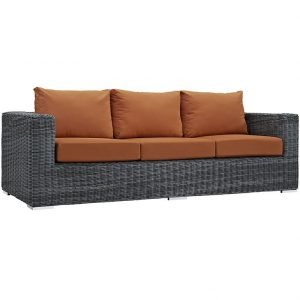 Outdoor Patio Sunbrella® Sofa in Canvas Tuscan EEI-1874