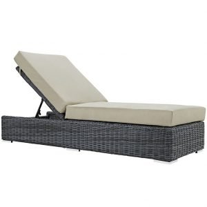 Outdoor Patio Sunbrella® Chaise Lounge in Canvas Antique Beige EEI-1876