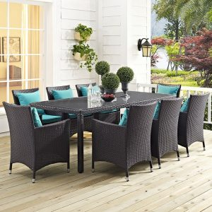 Rattan Patio Dining Table