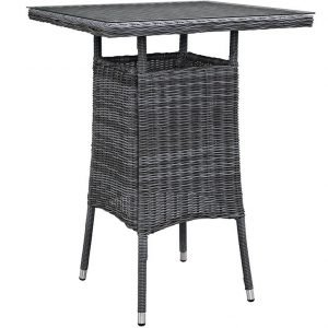 Bar Height Rattan Table, rattan, rattan table, rattan outdoor patio table, outdoor patio table, patio dining set