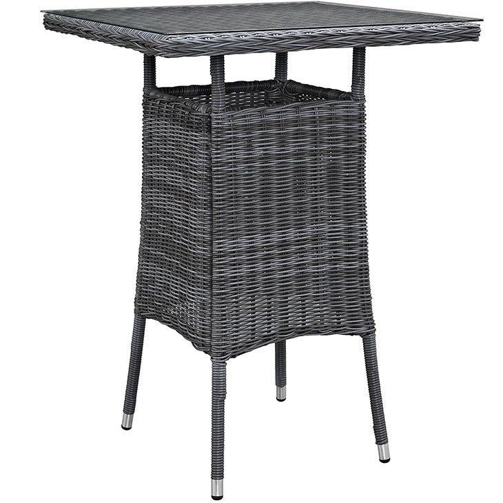 Bar Height Rattan Table, rattan, rattan table, rattan outdoor patio table, outdoor patio table, patio dining set