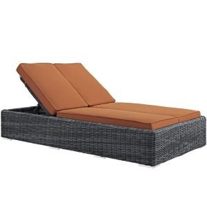 Double Outdoor Patio Sunbrella® Chaise in Tuscan EEI-1994