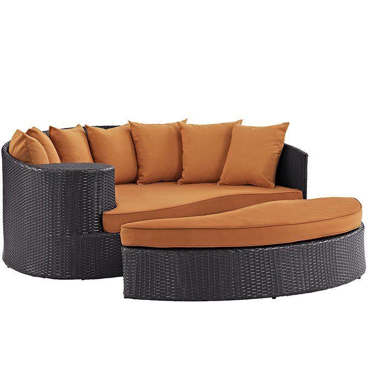 Patio Day Bed in Orange