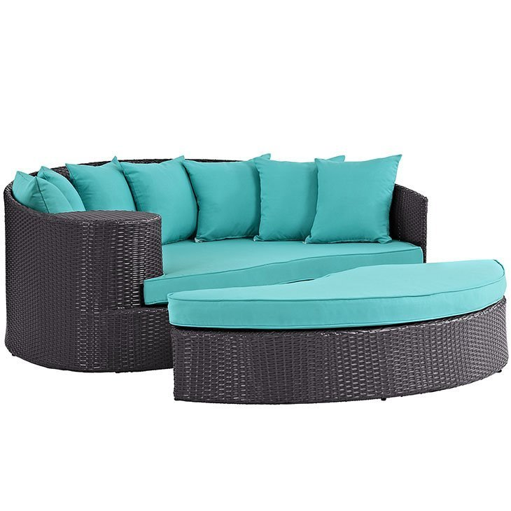 Patio Day Bed in Turquoise EEI-2176
