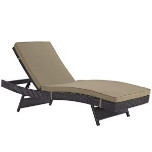 Mocha Outdoor Chaise Lounge