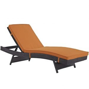 Orange patio chaise