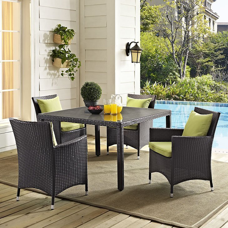 rattan, rattan patio dining set, rattan outdoor patio dining set, outdoor dining, patio set, patio furniture set
